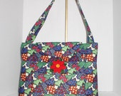 Christmas Fabric Handbag/Tote - Patchwork Chritmas Trees Large Cotton Quilted Tote Bag