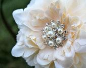 Wedding Flower Clip - Flower for Hair -  Small Peony Flower