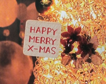 Happy Merry Christmas Rubber Stamp