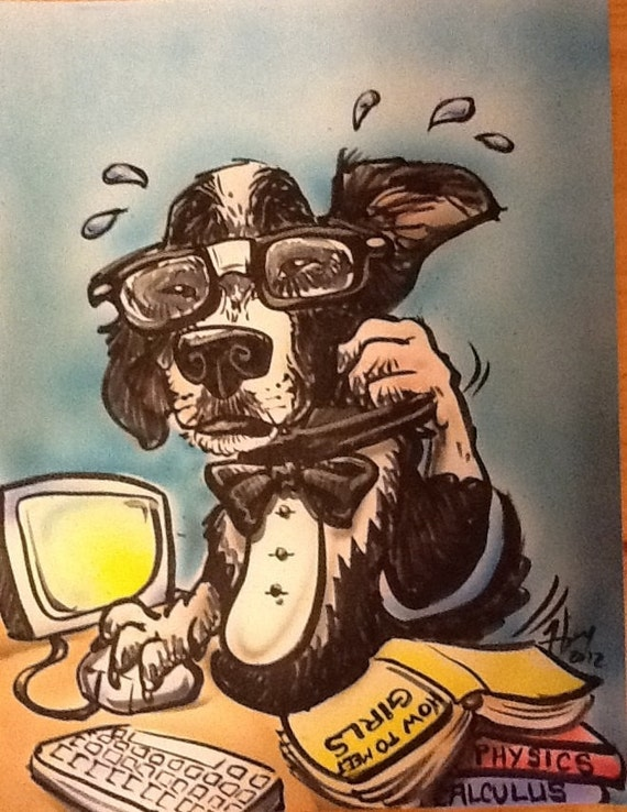 Anthropomorphic Pet Caricatures, Dogs, Cats, Birds, Etc. imagine your pet is a person and I can draw them.