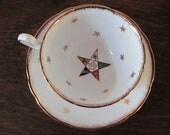 Order of the Eastern Star Cup and Saucer, OES Royal Stafford,  Bone China Cup and Saucer