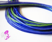 "SALE YOU CHOOSE 1 X-Long 11-14"" Blue Green Feather Hair Extension"