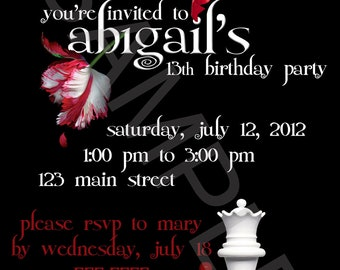Twilight Themed Printable Invitation
