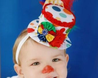 Circus Mini Top Hat - Clown Costume - Circus Birthday - Halloween Clown - Photo Prop