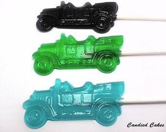 12 ANTIQUE CAR LOLLIPOPS - Hard Candy