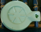 Vintage Cast Iron Ceramic Coated Spoon Utensil Trivet Made In Holland