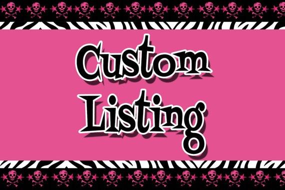 Custom Listing for Stitches by Jordan