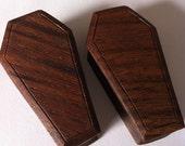 "Organic Walnut Coffin Plugs - (1 1/2"" to 2"")"
