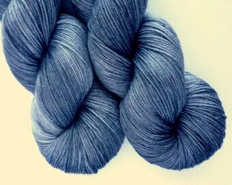 Merino Silk Sock Yarn - Hand Dyed 50/50 Merino Silk Fingering Weight in Chimney Sweep Colorway