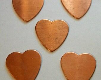 Heart Copper Shapes Set of 5