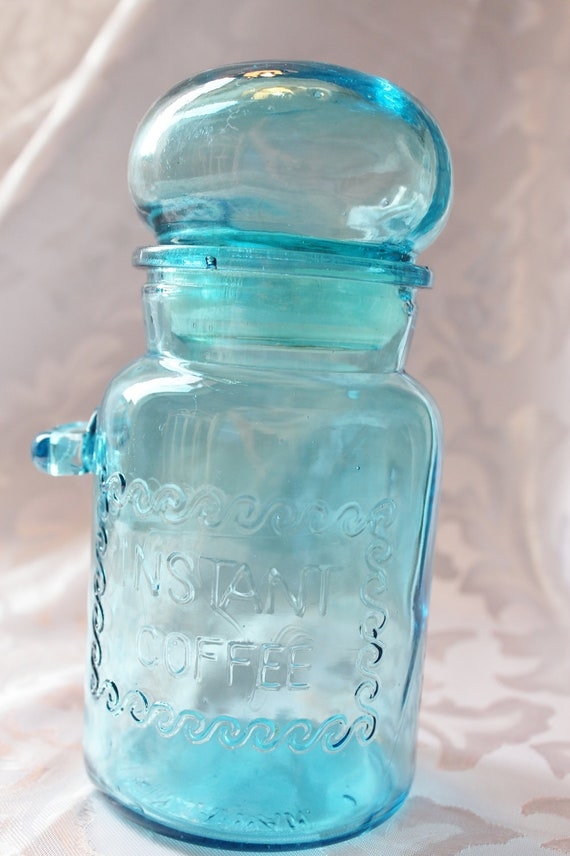 Vintage Apothecary Instant Coffee Jar with spoon