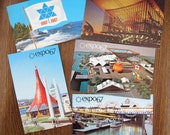 SALE Expo 67 Vintage Postcards (set of 5) / Expo 1967 Postcard collection / 1967 Montreal unused postcards