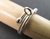 Size 5 Thai Hill Tribe Silver Embellishment Charm Ring Rg07