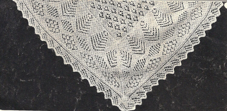 Free Knitting Patterns For Vintage Shawls : Vintage Pattern Baby Shetland Shawl Baby Blanket knitted