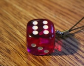 six sided die Cell Phone Charm