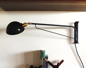 "Industrial wall lamp 30"" black powder coat"