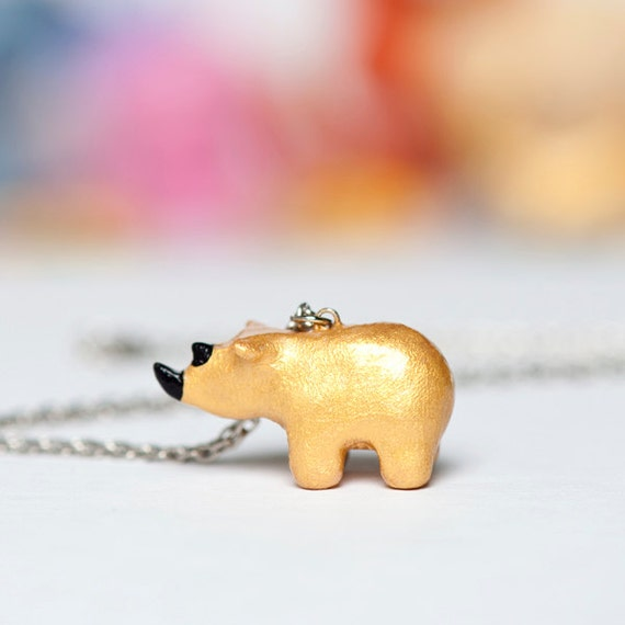 Le Rhino Custom Order Necklace RESERVED