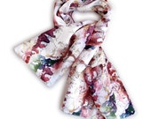 Paris watercolor print scarf - Love Journey Collection
