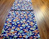 kimono fabric plum ume sakura panel