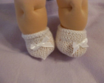 """14"""" Baby Cabbage Patch White Booties"""