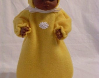 """10-12"""" Gold Bunting and Hood Set"""