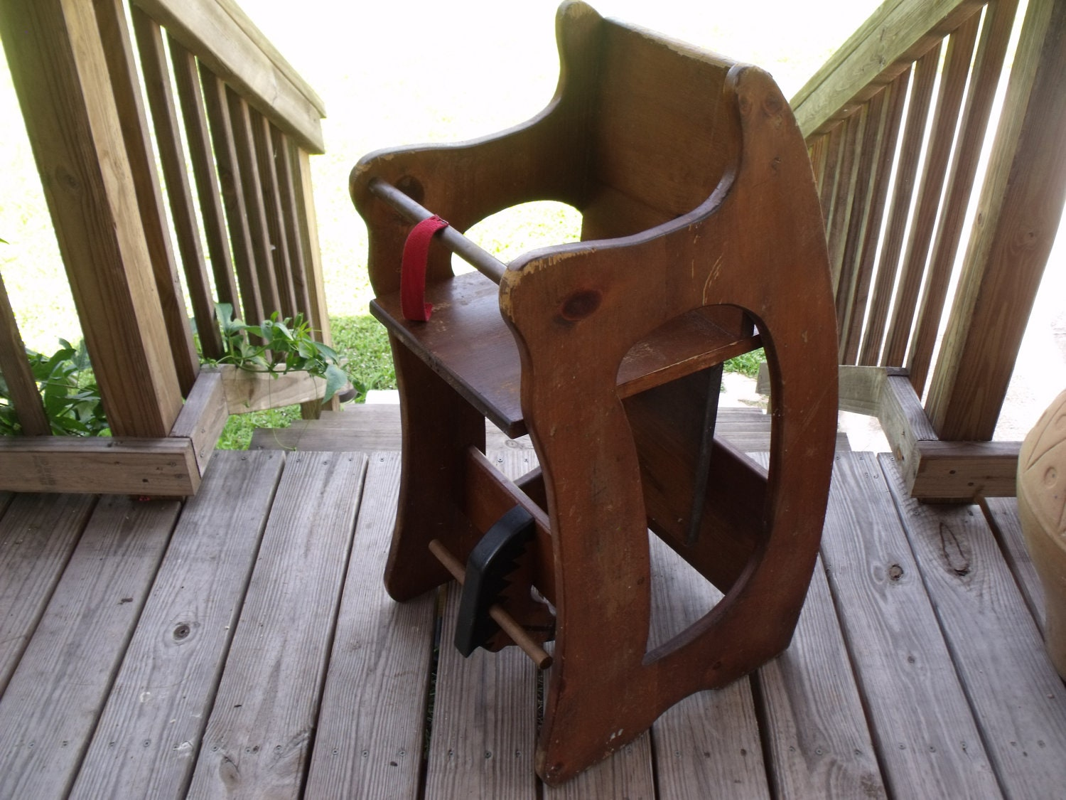 3 In 1 Rocking Horse High Chair Desk Childs Vintage By KTsAttic