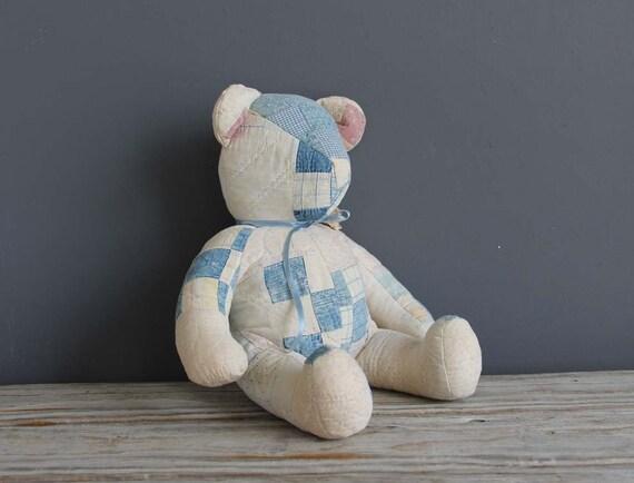 Handmade Patchwork Bear