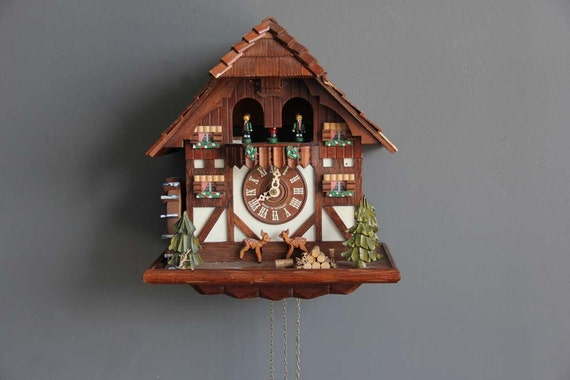 Large Swiss Chalet Cuckoo Clock