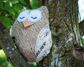 Recycled Trader Joe's Owl