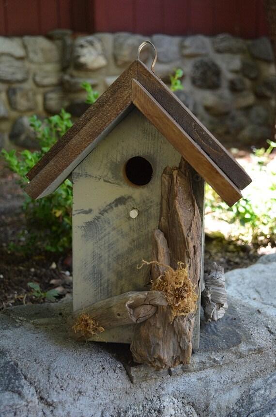 Birdhouses rustic primitive for birds outdoor hanging garden for Types of birdhouses
