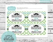 Personalized Little Man or Little Mister Baby Shower Invitation Inserts