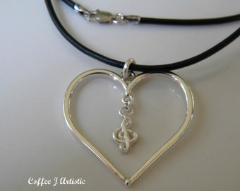 Music in my heart Necklace (silver 925)
