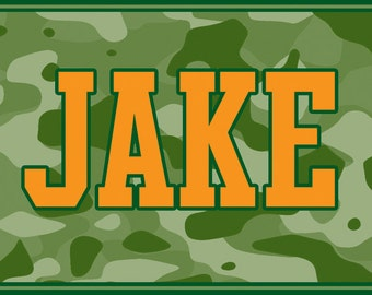 Personalized Camo Placemats / Party Favors