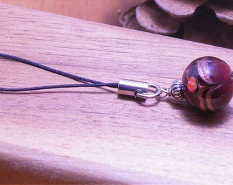 Lampwork Beaded Cell Phone Charm