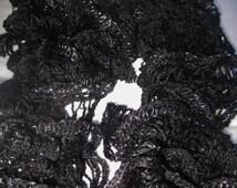 Black Ruffled Scarf