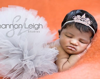 Sweet Simplicity Tutu And Tiara Set From The Sweet Baby Royalty Newborn Tutu And Tiara Collection Stunning Unique Newborn Photo Prop