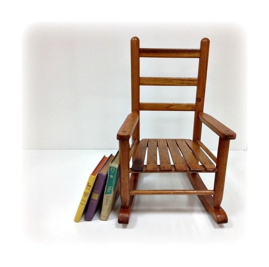 Child 39 s wooden rocking chair pine rocker for Small wooden rocking chair for crafts