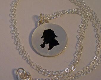 Sherlock Holmes, Custom personalized, Sherlock necklace, sterling silver, Sherlock jewelry, Sherlock, Christmas gift, birthday present,