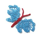 summer glamor - 1 charming crochet butterfly - FREE SHIPPING
