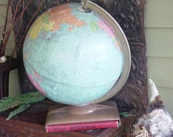 Retro 1957 Hammond Globe with Atlas