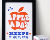 An Apple a day keeps Windows away print