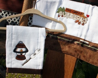 Burp rags...Great Outdoors gift set