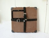 Vintage Film Reel Shipping Box with Straps, Mailing Box, Storage Box, Home Decor, Vintage Storage