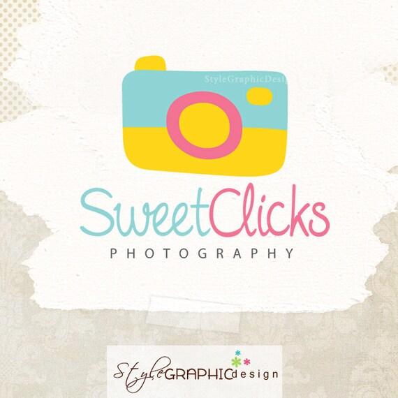 Photography logo design Cute Photographer logo premade ooak