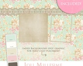 Marketing Design Kit- Joli Millesime Collection Vintage Floral Scrapbook