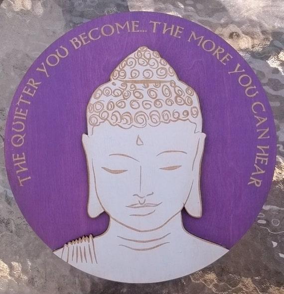 Quiet Buddha Wall Art- Purple