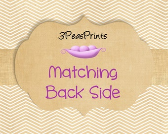 Custom Matching Back Side or Second Side for a Printable Invitation