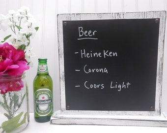 Wedding Chalkboard Table top Self Standing menu drink board, food dinner display
