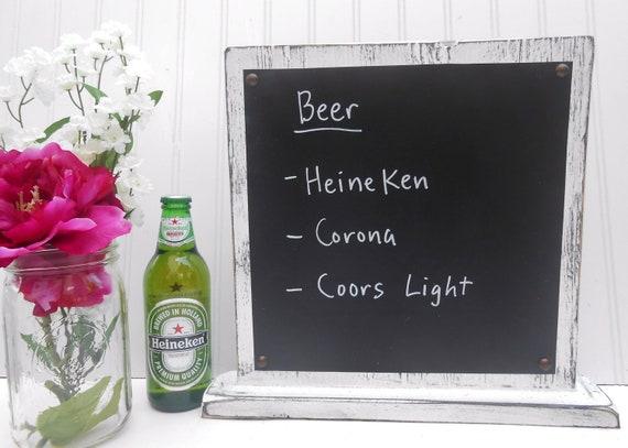 Wedding Chalkboard Table top Self Standing menu drink board, food dinner display