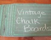 Vintage Green Super-Slate School Chalkboard - Reserved for Justin / VivaEstelle